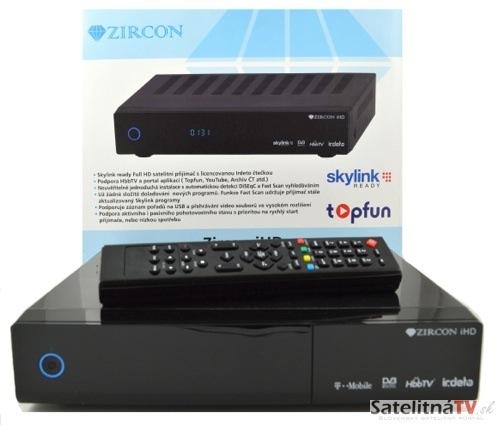 Zircon iHD – Satelitný HD prijímač s licencovanou čítačkou Irdeto a podporou HbbTV