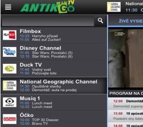 TV Severka aj v ponuke mobilnej televízie ANTIK TV GO